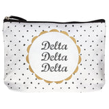 COTTON MAKEUP BAG DELTA DELTA DELTA (F19)