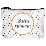 COTTON MAKEUP BAG DELTA GAMMA (F19)