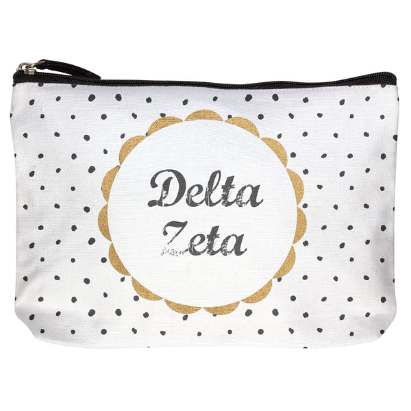 COTTON MAKEUP BAG DELTA ZETA (F19)