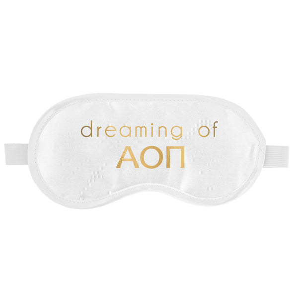 SLEEP MASK ALPHA OMICRON PI (F19)