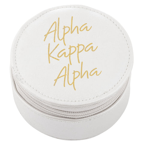 ROUND TRAVEL CASE ALPHA KAPPA ALPHA (F19)
