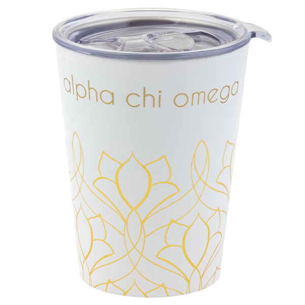 12 OZ TRAVEL MUG ALPHA CHI OMEGA (F19)