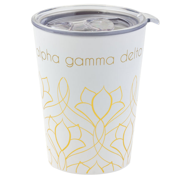 12 OZ TRAVEL MUG ALPHA GAMMA DELTA (F19)