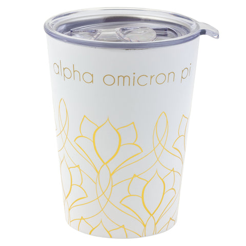 12 OZ TRAVEL MUG ALPHA OMICRON PI (F19)