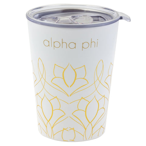 12 OZ TRAVEL MUG ALPHA PHI (F19)