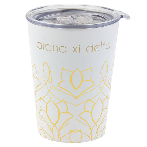 12 OZ TRAVEL MUG ALPHA XI DELTA (F19)