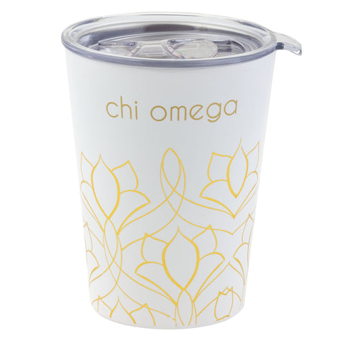 12 OZ TRAVEL MUG CHI OMEGA (F19)