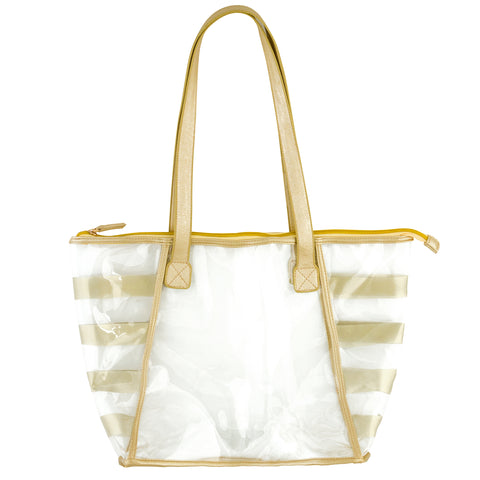 Clear Tote Gold