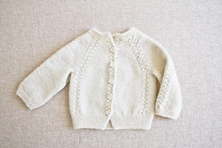 Knit Layette Sweater with Rosa