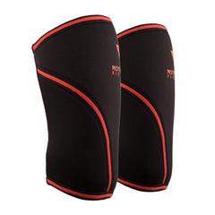 Black w/ Red Knee Sleeves