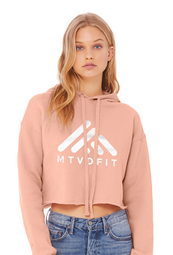 Cropped Hoodie in Blush