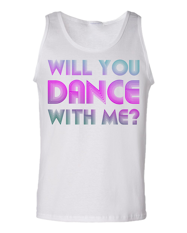 "Tank Top White Computer Games - ""Will You Dance With Me"" Tank-Top"