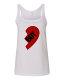 "Ladies' Tank White Computer Games - Lost Boys Life ""Boy"" Heart T-shirt"