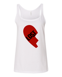 "Ladies' Tank White Computer Games - Lost Boys Life ""Lost"" Heart T-shirt T-shirt"