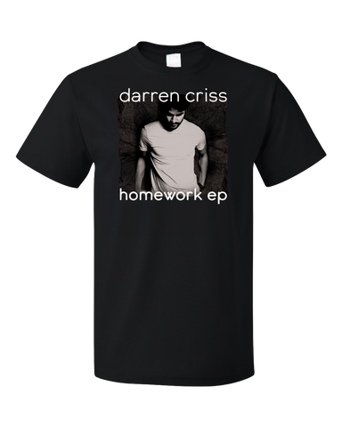 Standard Black Darren Criss Homework EP Black T-shirt