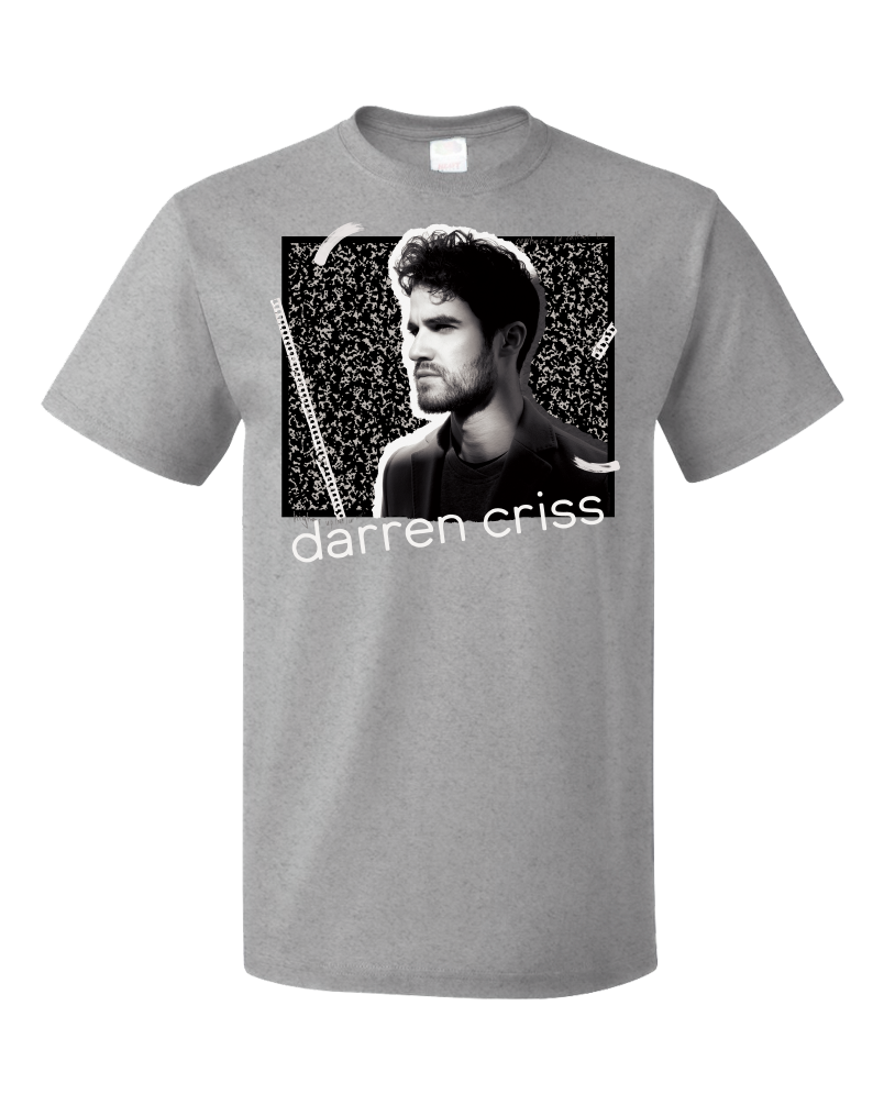 Standard Grey Darren Criss Homework EP Notebook  T-shirt