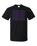 Standard Black Darren Criss Repeating Name T-shirt