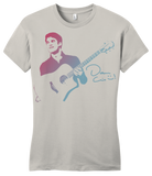 Girly Light Grey Darren Criss Guitar T-shirt