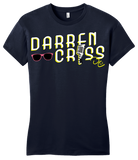Girly Navy Darren Criss Microphone  T-shirt