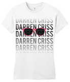 Girly White Darren Criss Fading Name T-shirt