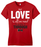 Girly Red Darren Criss Our Love Is All We Need T-shirt