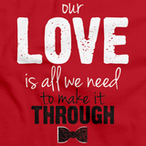 Darren Criss Our Love Is All We Need Red art preview