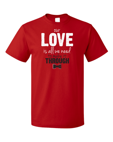 Standard Red Darren Criss Our Love Is All We Need T-shirt