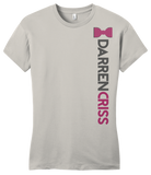 Girly Light Grey Darren Criss Bowtie and Name T-shirt