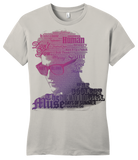 Girly Light Grey Darren Criss Song Name Headshot T-shirt