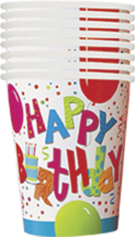 9oz Cups 8's for do-it-yourself party - Birthday Jamboree pattern