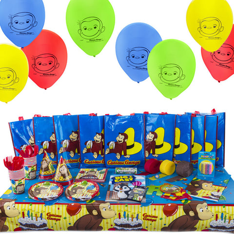 Curious George All-in-One Birthday Party Supplies Kit