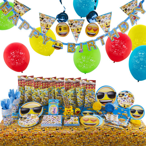 Emoji Birthday Party Supplies Kit - Big Birthday Bash Version