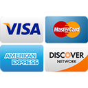 Visa, Master Card, American Express, Discover Credit Cards