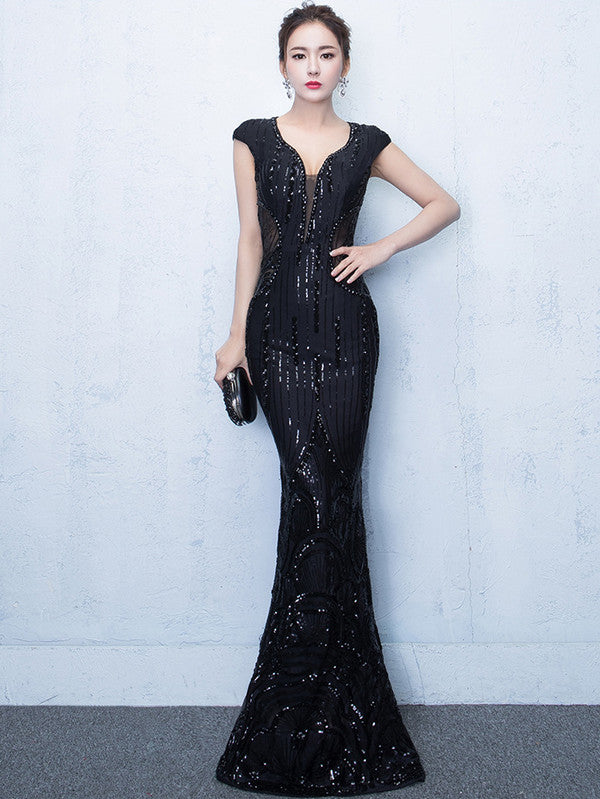 Long Fitted Evening Dress