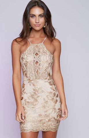 Embroidery Cocktail Dress