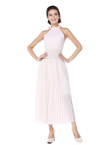 High Waist Smock Pleated Party Dress