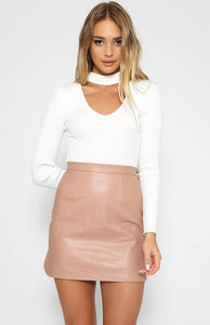 Leather Short Wrap Skirt