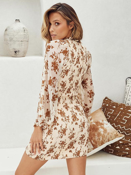 Long Sleeve Floral Dress3