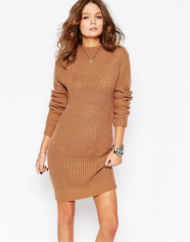 Long Sleeve Knitting Casual Dress