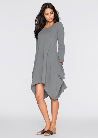 O Neck Irregular Hem Dress2