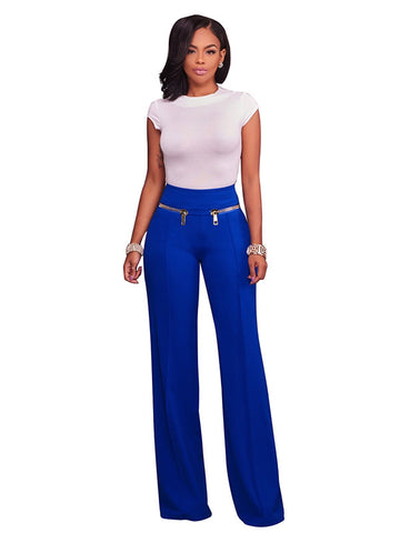Side Zipper Slacks