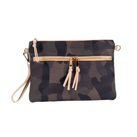 Camo Print Neoprene Convertible Crossbody