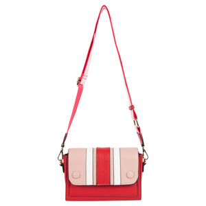Color Block Vegan Leather Crossbody