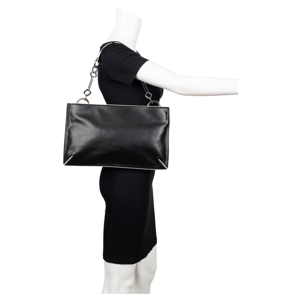 Smooth Nappa Vegan Leather Shoulder