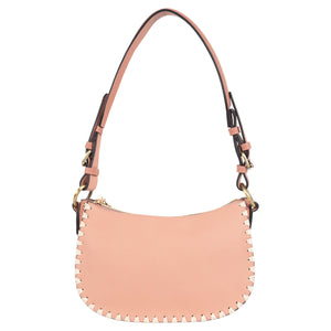Blanket Stitch Vegan Leather Mini Hobo
