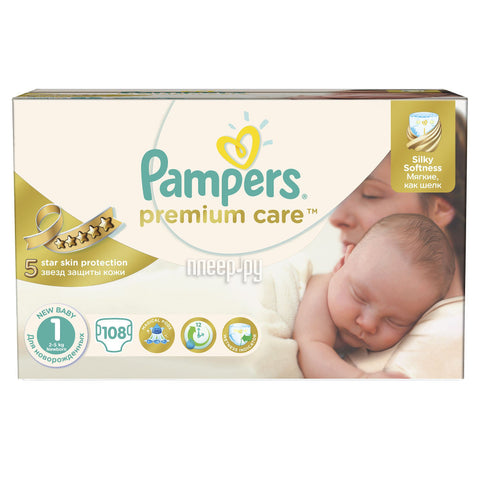 Pampers Premium Care Taille 1 108 Couches