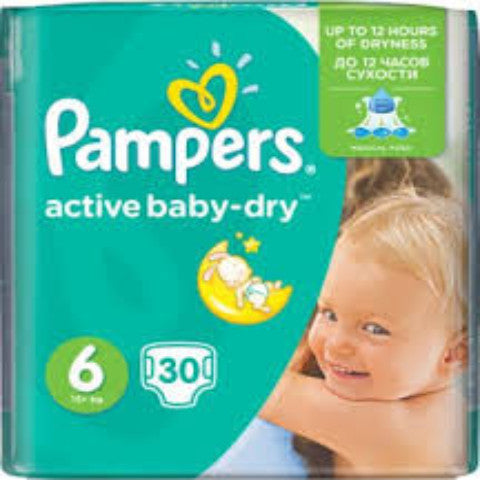 Pampers Baby dry Taille 6-30 Couches/Lot de 3
