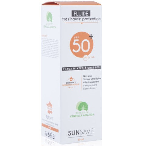 Sunsave - Fluide Visage Spf 50 - 50ml