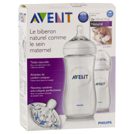 Avent - Biberon Natural Polypropylene Lot De 2X330Ml