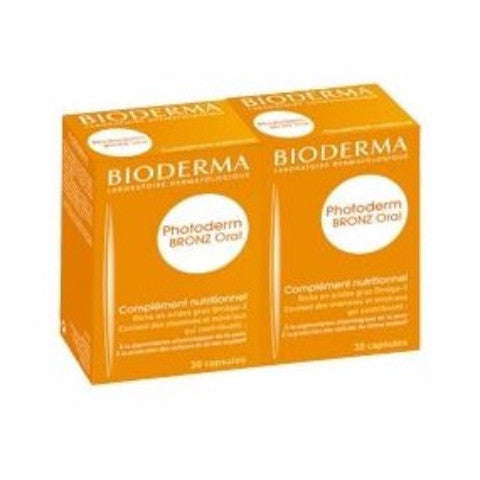 Bioderma - Photoderm Bronz Oral - Complément Nutritionnel, 30 Capsules-Lot De 2